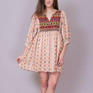 Umgee Free Spirit Boho Tunic Mini Dress